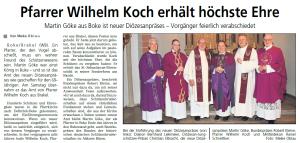 Pfarrer Wilhelm Koch erhält höchste Ehre