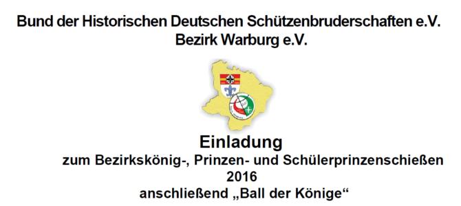 Bezirkskönig-, Prinzen- und Schülerprinzenschießen 2016 – Ball der Könige