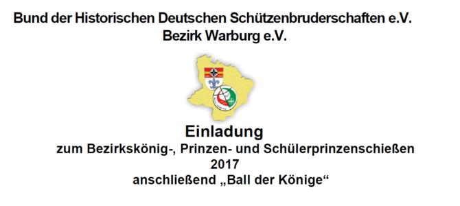 Bezirksschießen und Ball der Könige in Gehrden