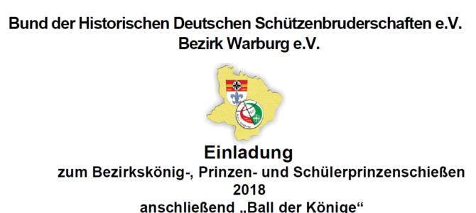 """Bezirkskönigsschießen 2018 und """"Ball der Könige"""""""