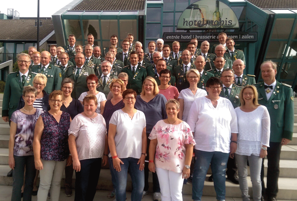 Teilnehmer der Fahrt nach Leudal (Niederlande)