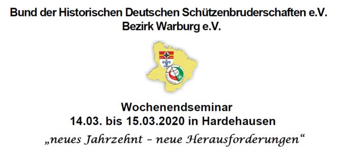 Wochenendseminar Hardehausen 14. – 15.03.2020