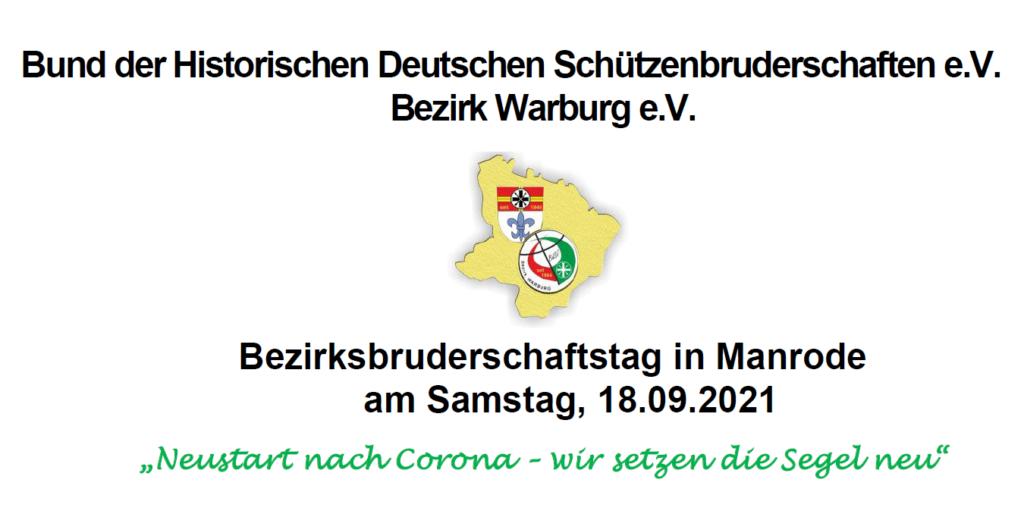 Einladung Bezirksbruderschaftstag 18.09.2021 in Manrode